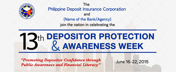 PDIC's 13th Depositor Protection and Awareness Week Celebration on June 16 – 22