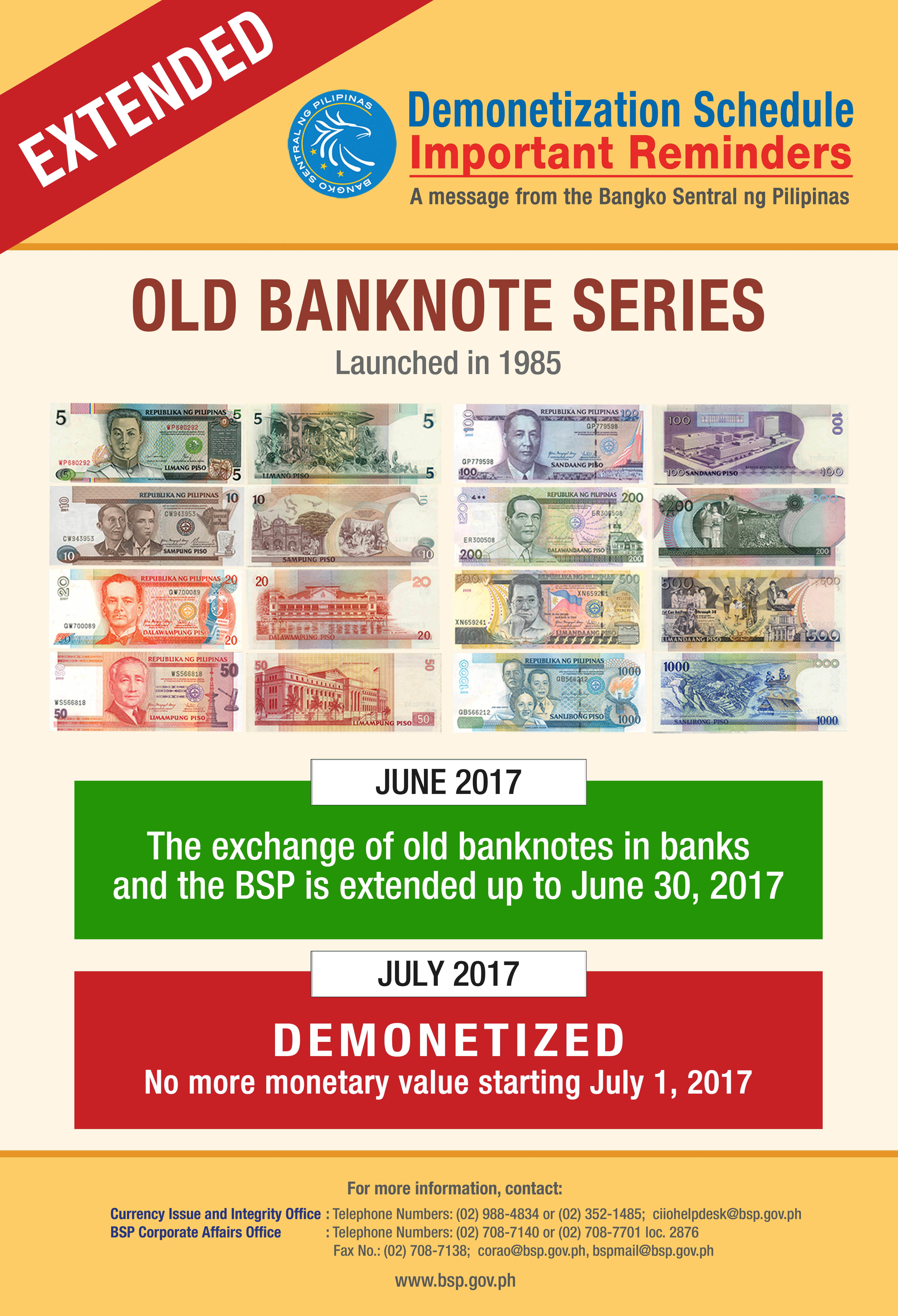 demonetization june 30, 2017