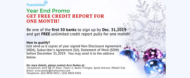 Join Transunion before the year ends!